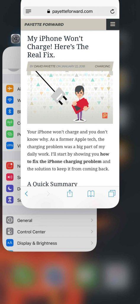 fechar aplicativos iphone x app switcher