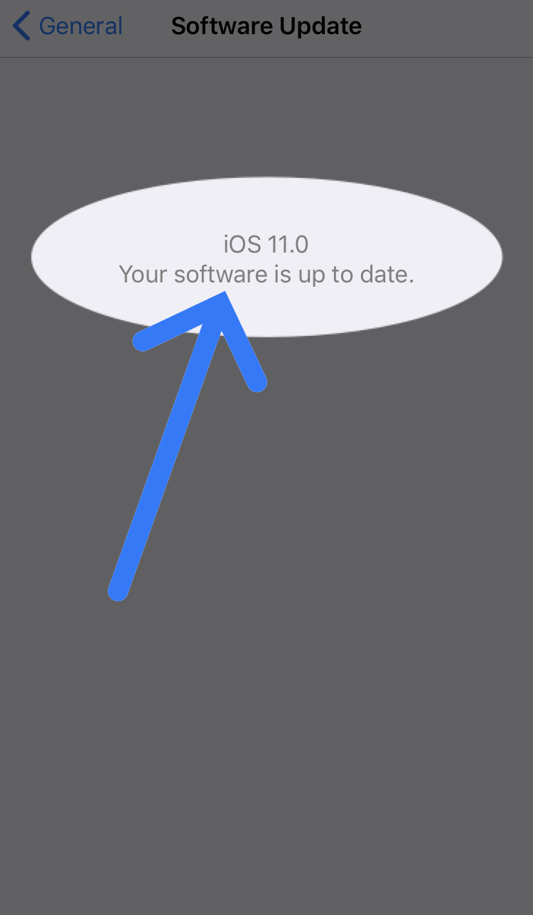 iOS 11.0 software is up to date