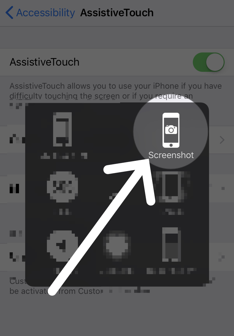 how to screenshot on iphone x with assistivetouch