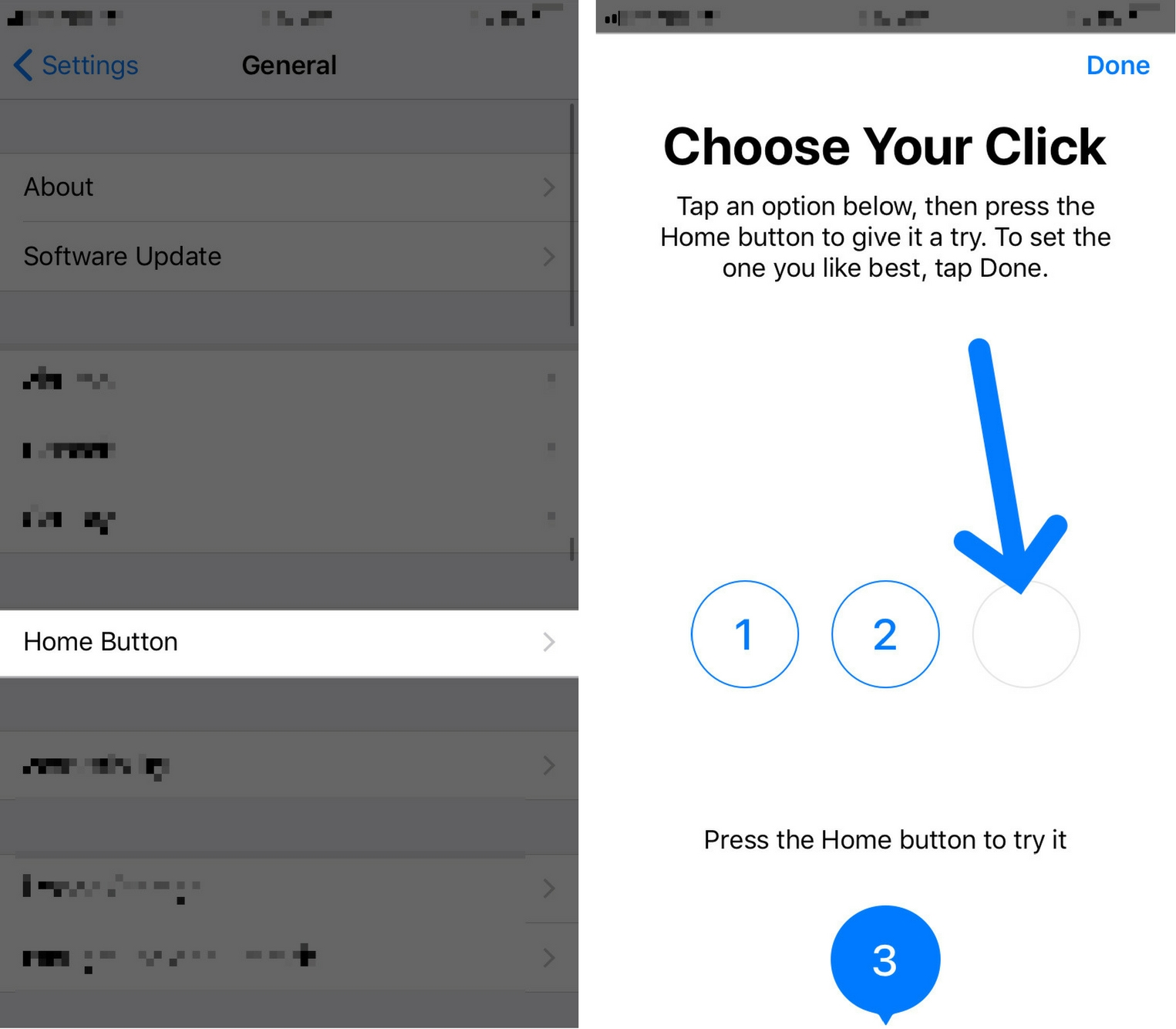 how to change iphone home button sensitivity
