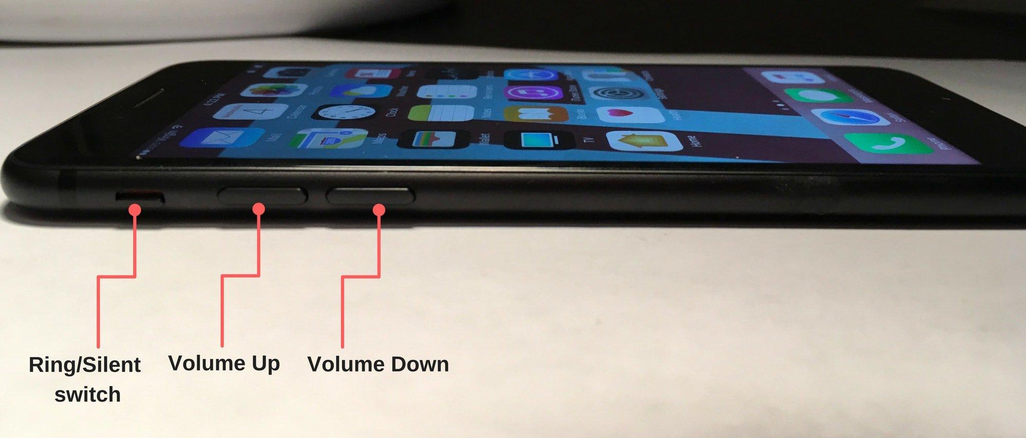 volume controls iPhone 7