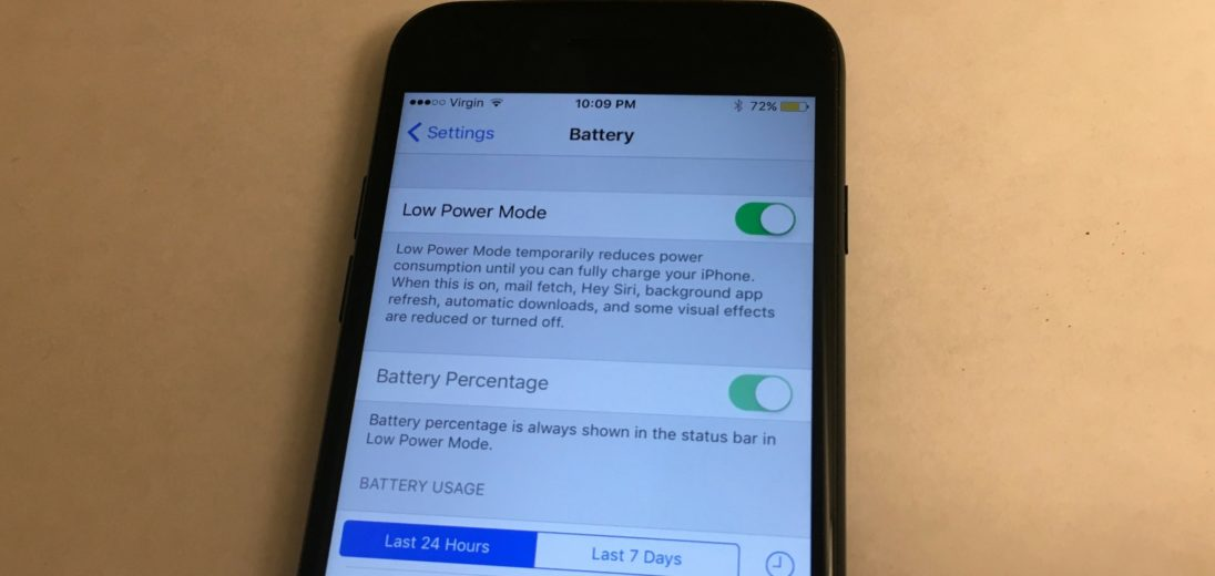 what is low power mode on an iphone 7 or 7 plus
