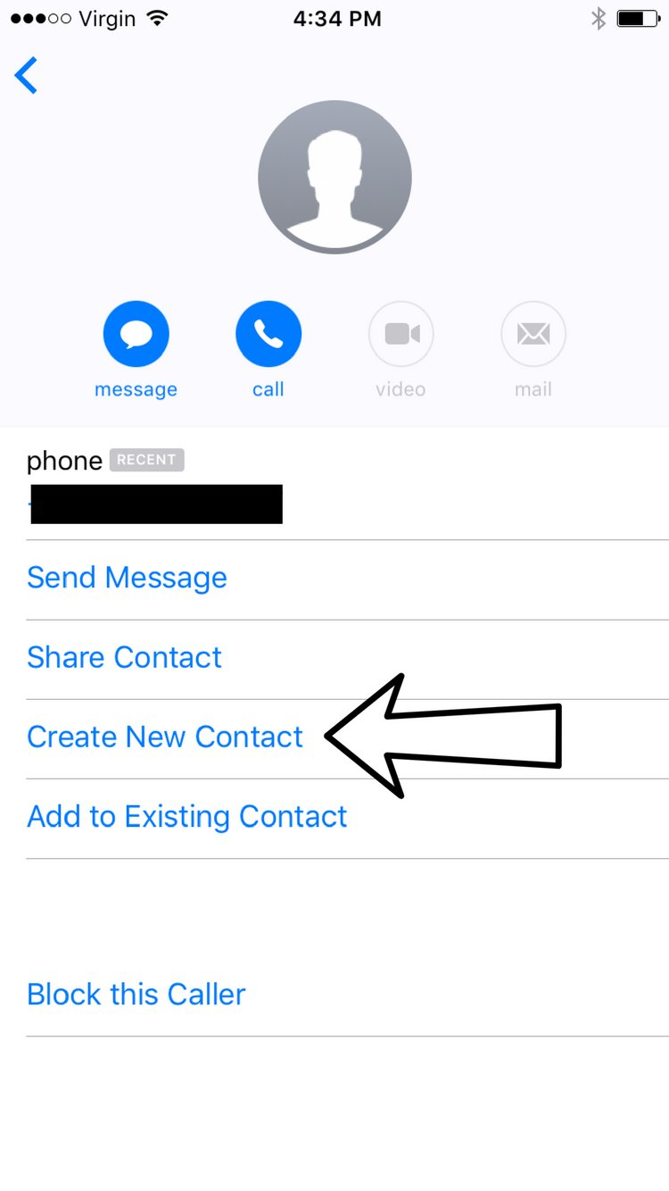 Create New Contact Messages App