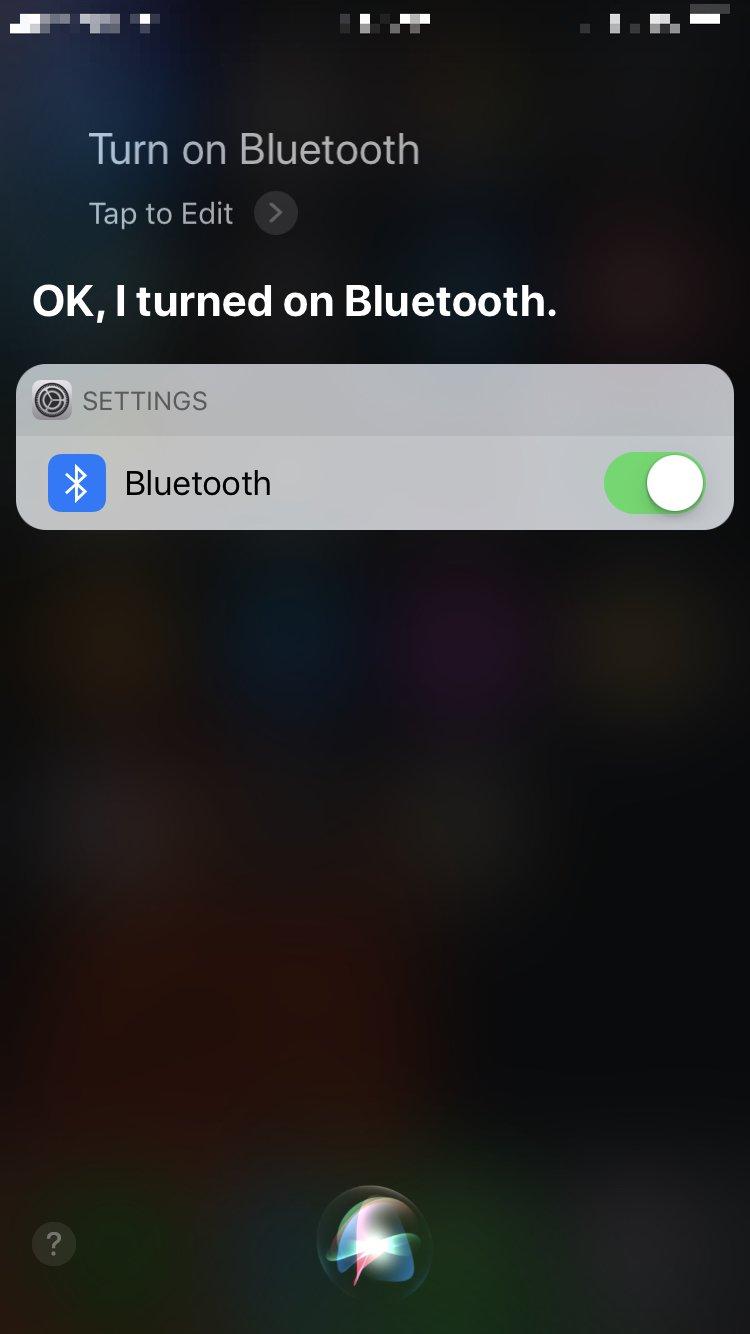 activate siri turn on bluetooth