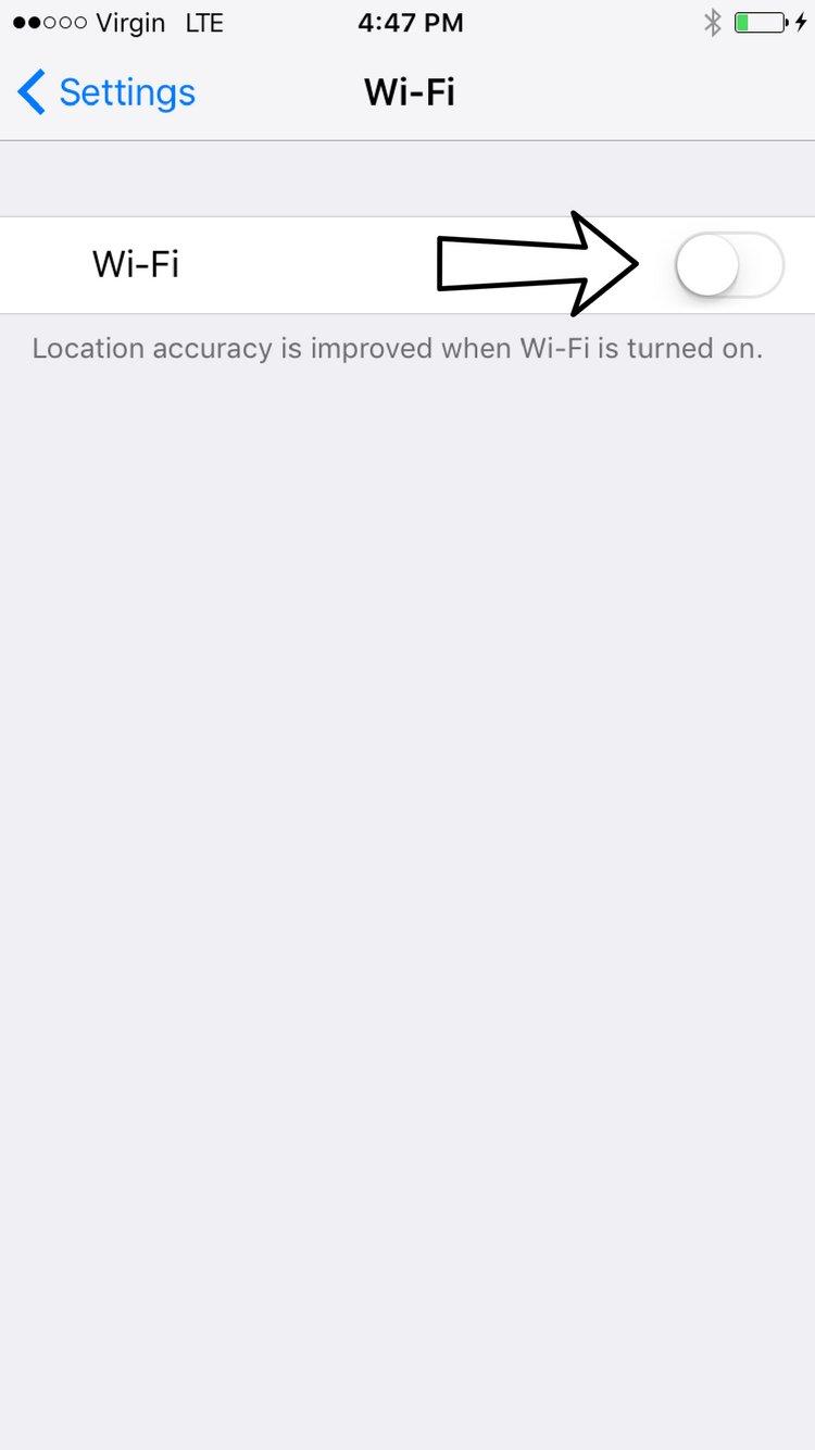 Turn Wi-Fi on