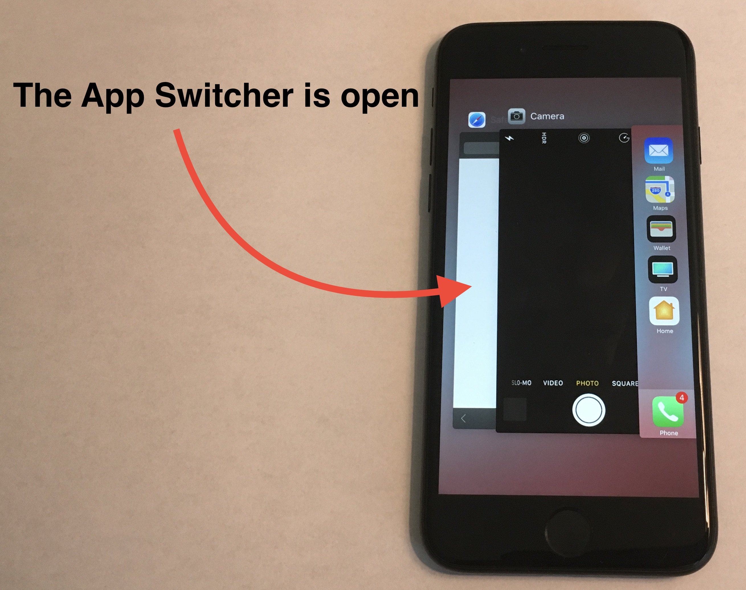 app switcher is open