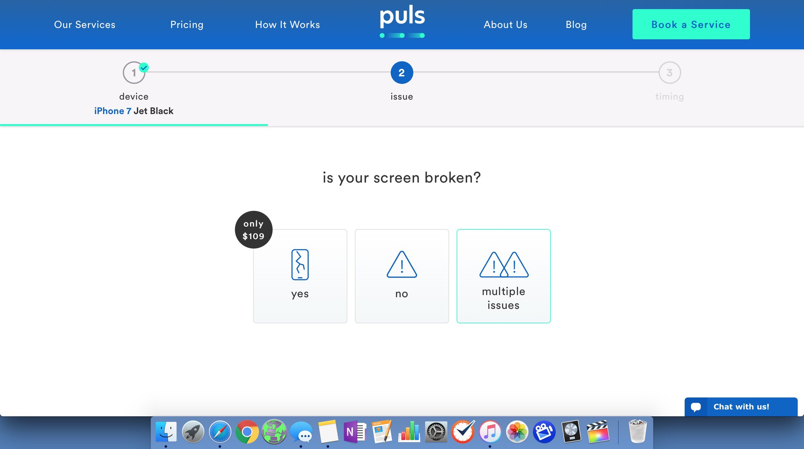 choose puls repair needed