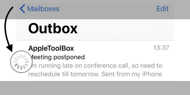 email stuck in outbox