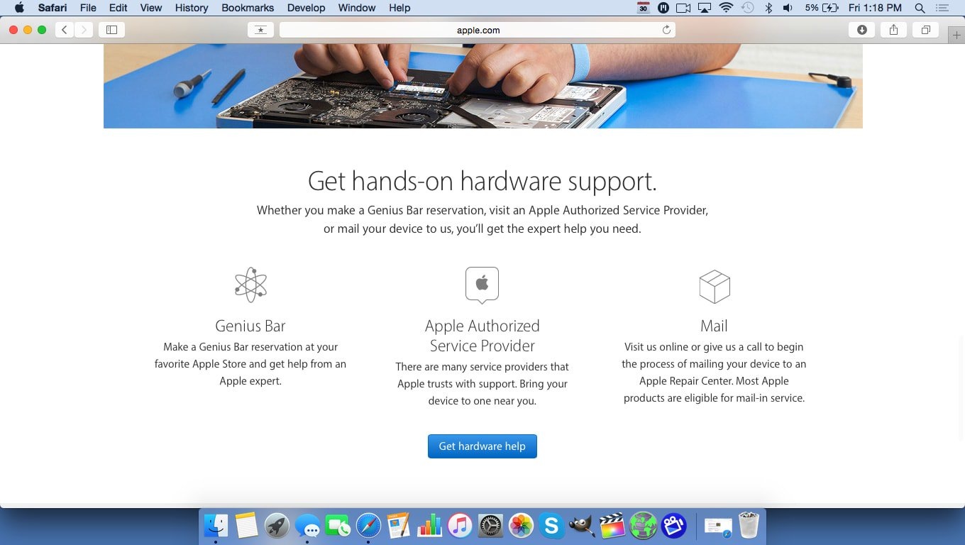 Get hardware help at the Genius Bar