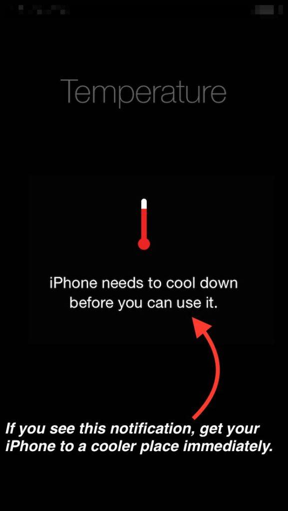 mantenha o seu iPhone a uma temperatura baixa