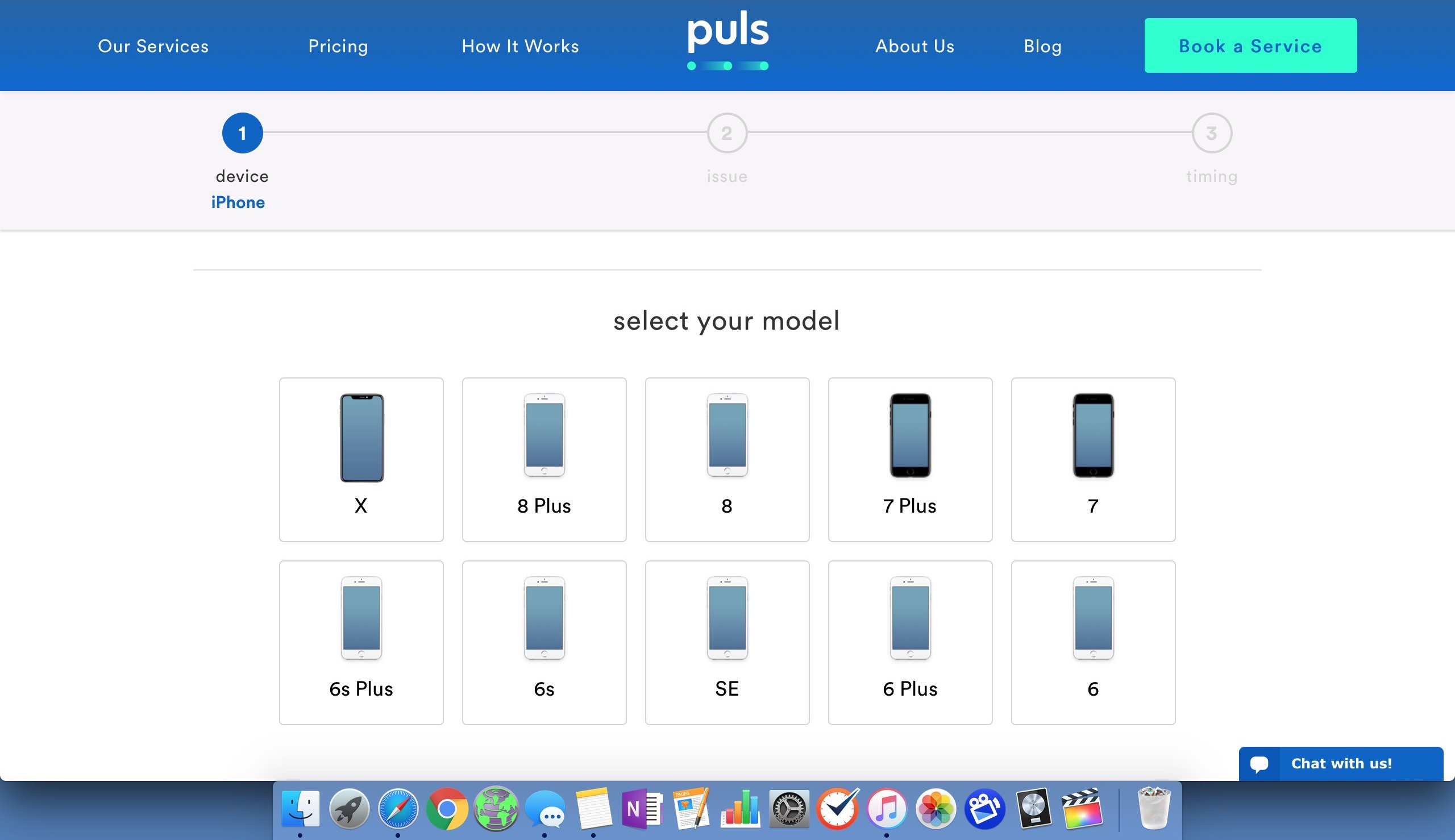 select your model of iphone