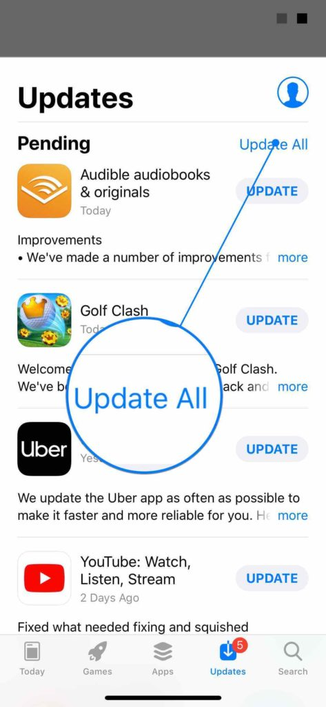update all iphone apps