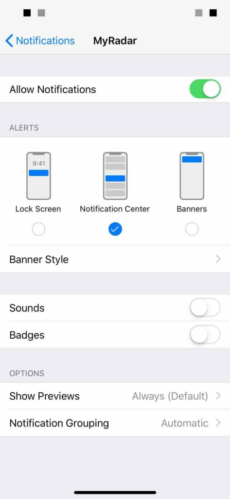 deliver quietly manual setup in settings