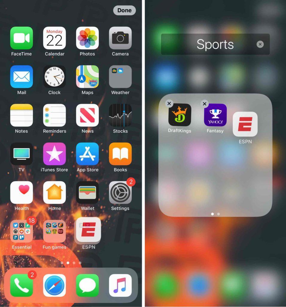 organize iphone apps into folder