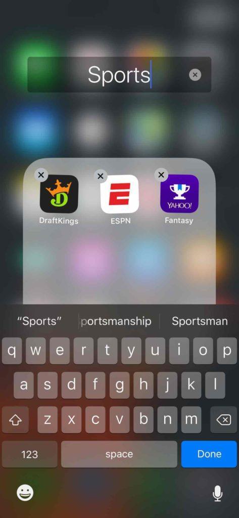rename iphone app folder