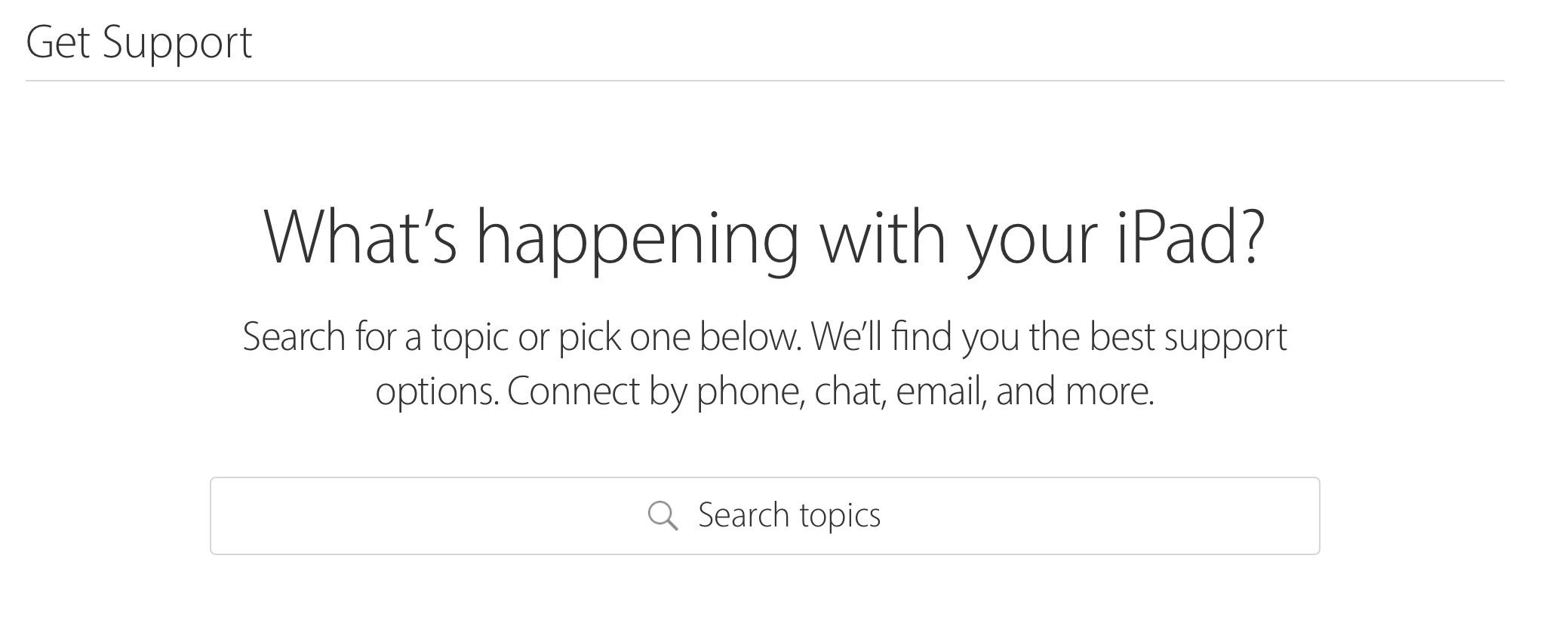 apple ipad support