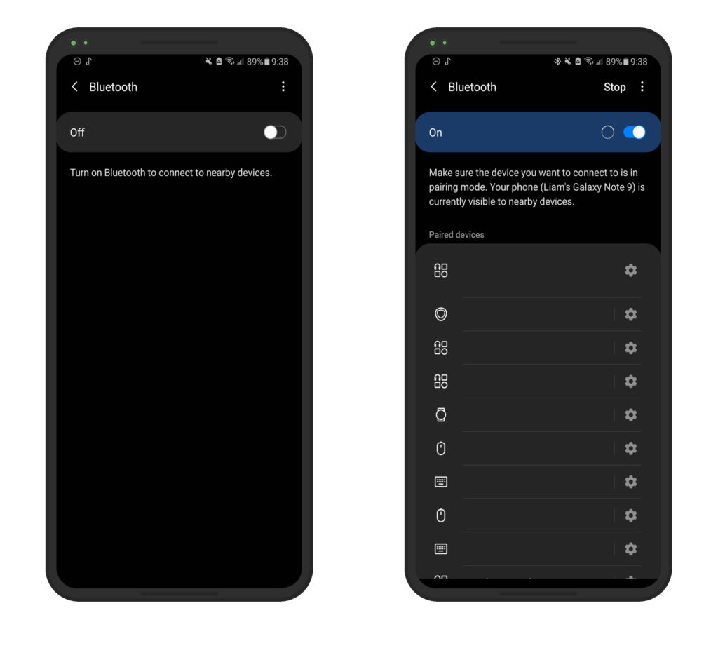 Android Bluetooth Settings Pair AirPods