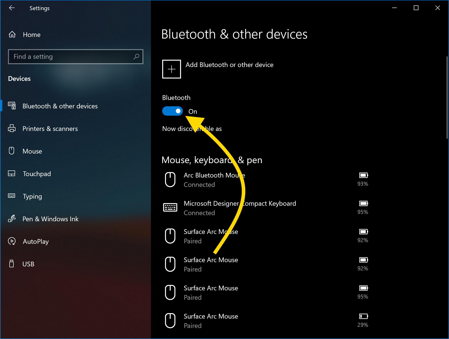 reset Bluetooth Windows